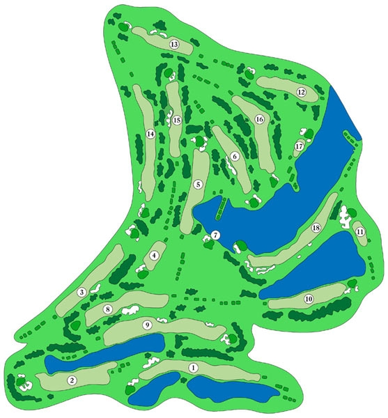 shadow hawk golf course layout